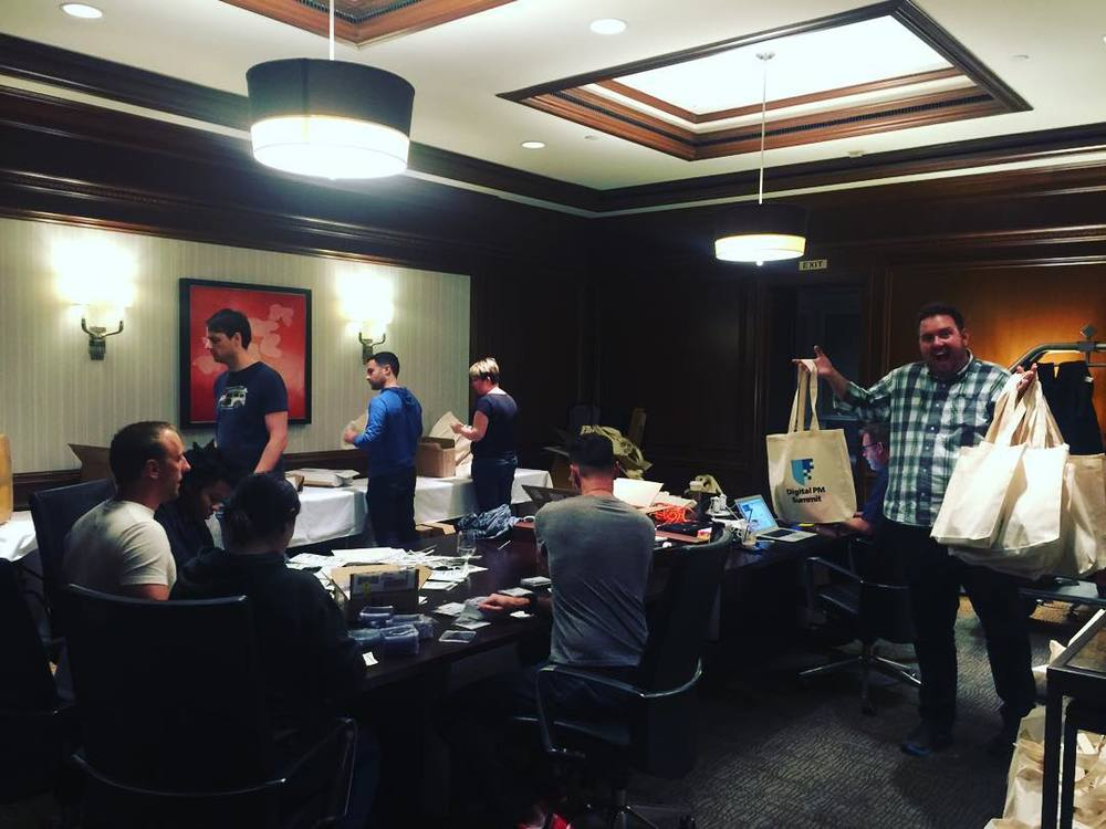 Volunteers are hard at work preparing for the Digital PM Summit! #dpm2015 by carlwsmith.jpg
