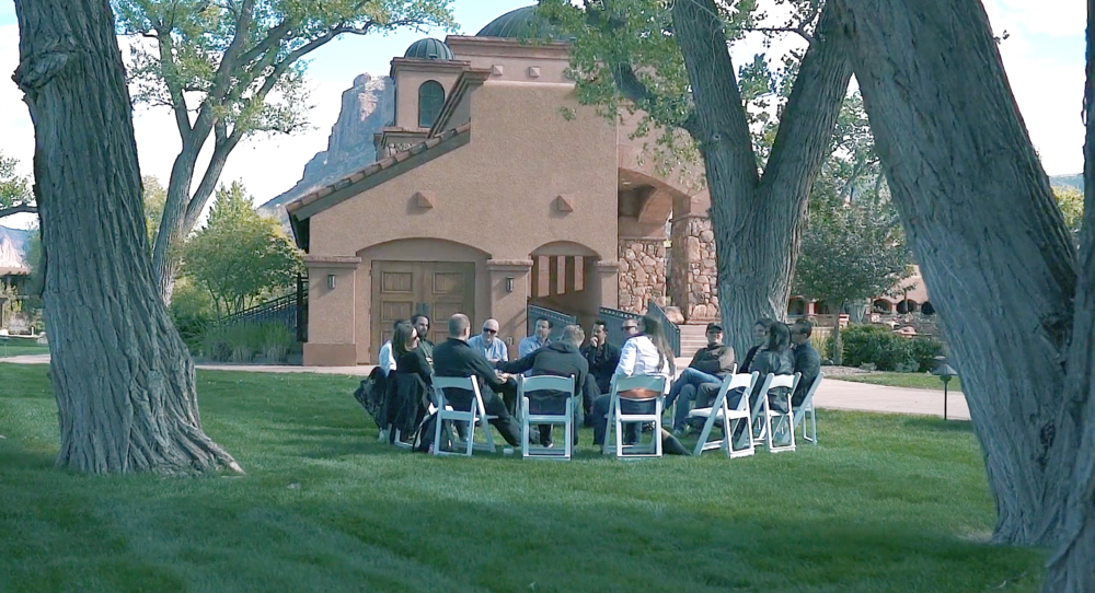 A breakout session from Design Leadership Camp 001 at Gateway Canyons