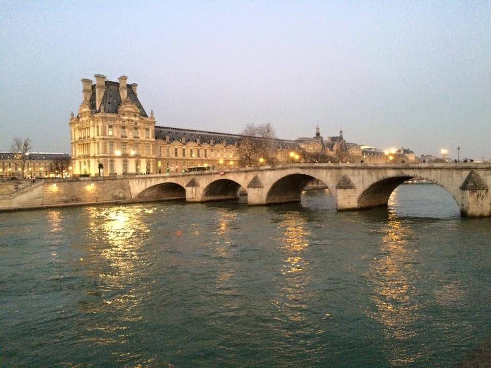 Louve from across the Seine. - in Paris, France