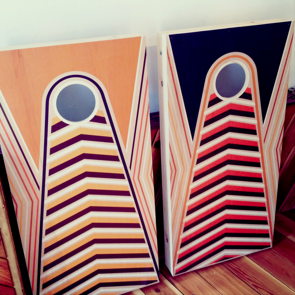 custom corn hole sets