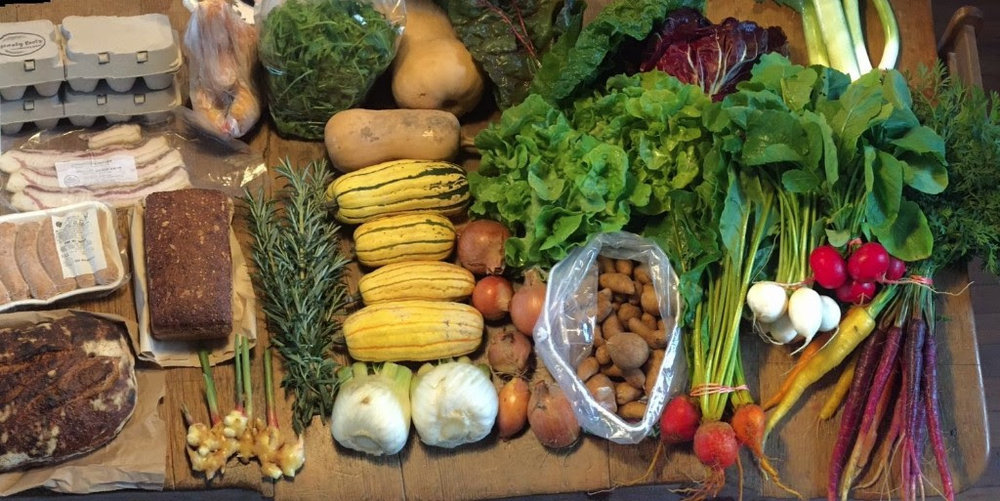 An example of the winter farm share!