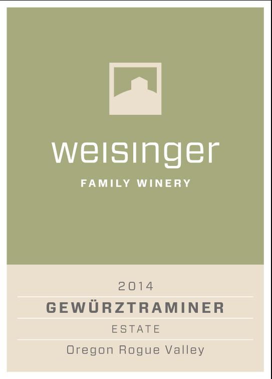 2014 Weisinger Gewurztraminer, Oregon wine