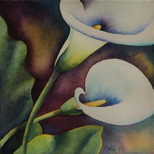 White Calla Lilies Duo