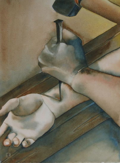 Jesus Is Nailed To The Cross