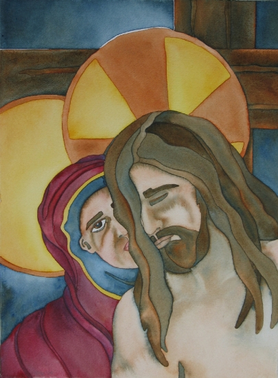 Jesus Is Placed In The Arms Of His Mother