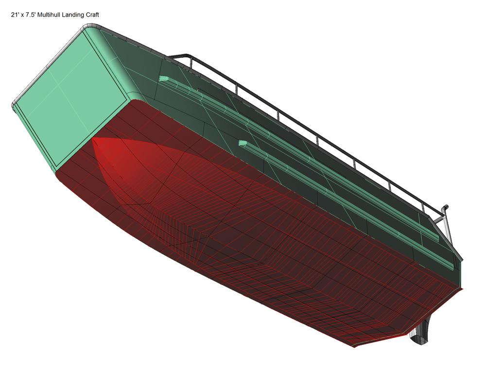 21 X 7 5 Landing Craft Coastwise Marine Design Inc