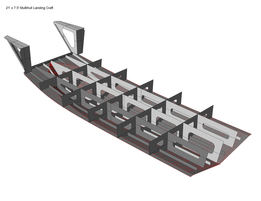 21' X 7.5' LANDING CRAFT — Coastwise Marine Design Inc.