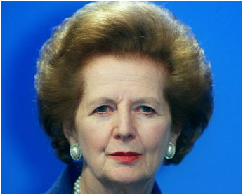 Mrs Thatcher was possibly unaware, when she endorsed Hayek's 'dry' economic theories, that he supported the taxation of land value uplift arising from town planning interventions.   Source: the Guardian newspaper, cropped image