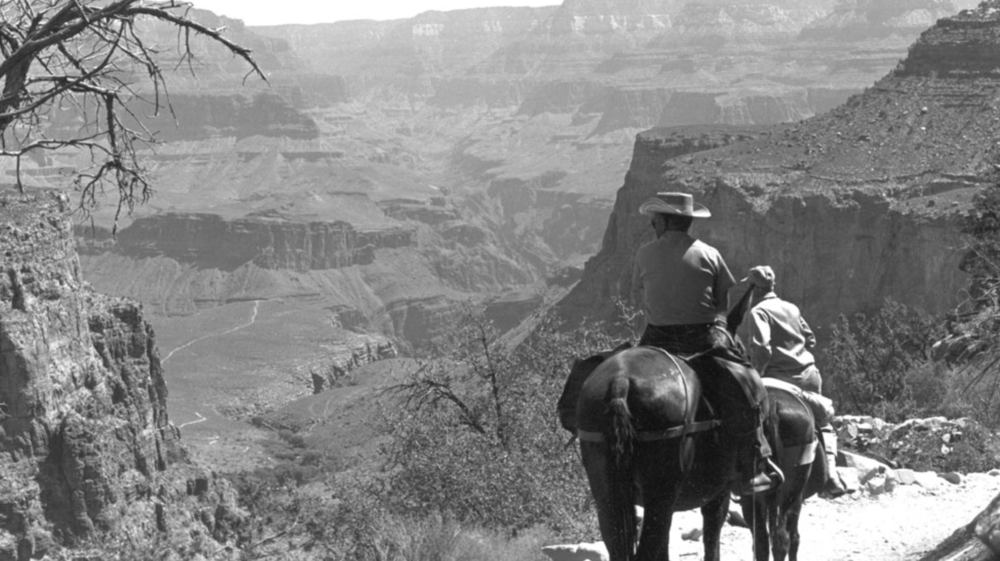 III. On the Trail Using historical photos, listeners are taken down into the canyon, eventually arriving at Phantom Ranch where time moves to the present for the return journey.