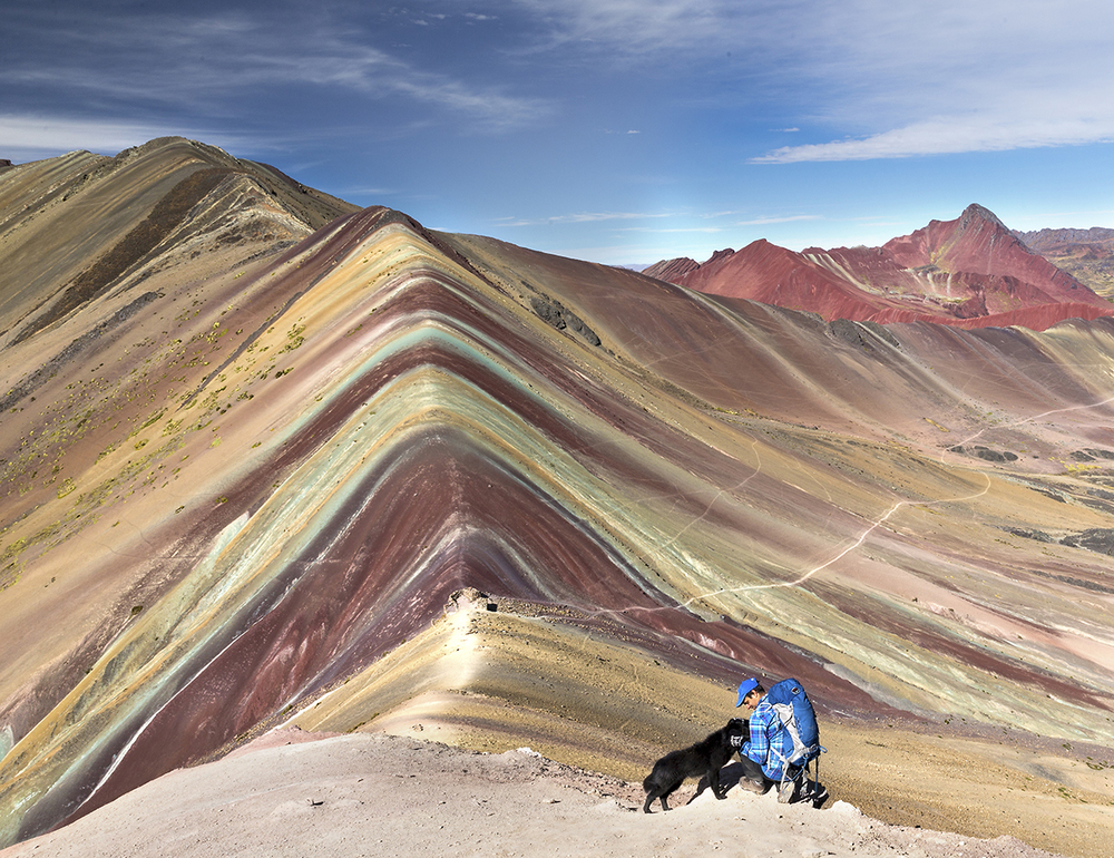 Taken on Rainbow Mountain, Peru. Photo: Dustin Silvey