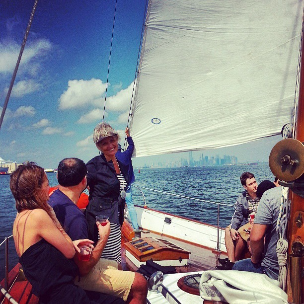 An afternoon gourmet luncheon sail for a birthday party. What a way to celebrate!