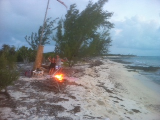 Beach fire at Joes Sound.JPG
