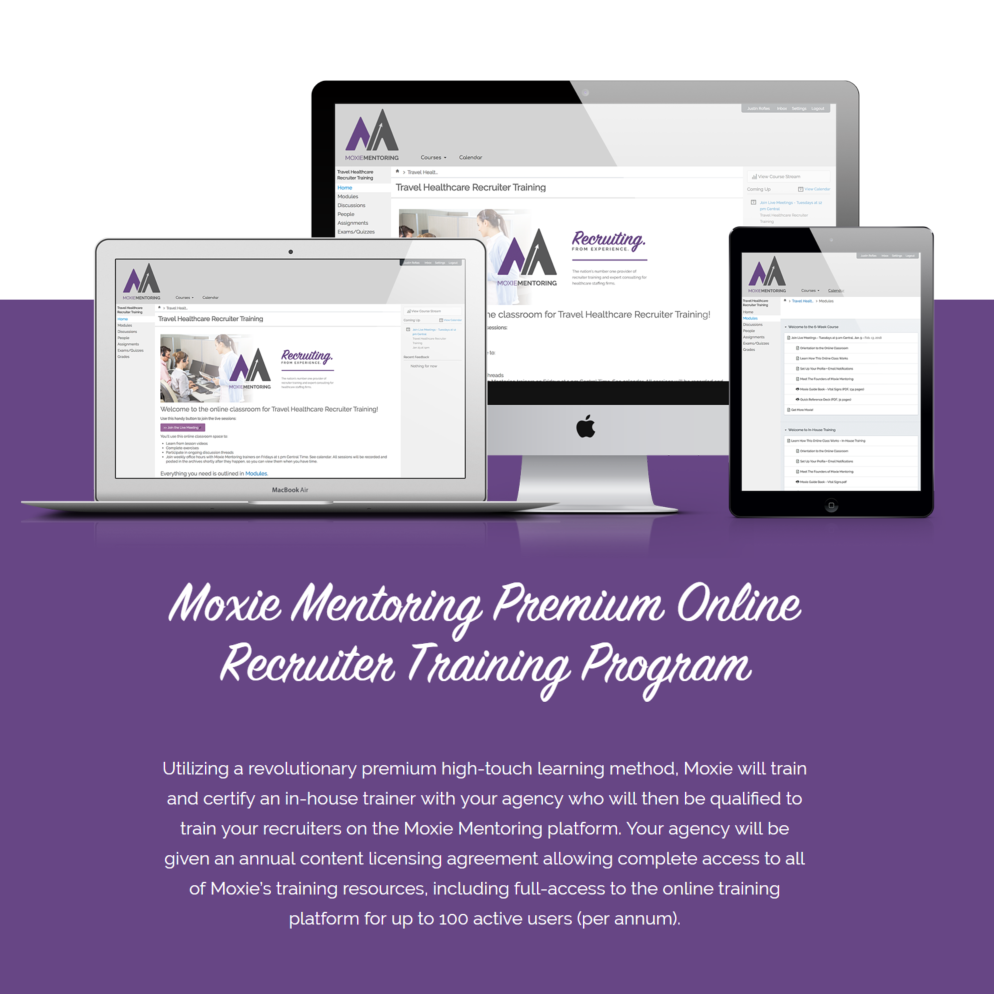 Moxie Mentoring Premium Online Recruiter Training Program