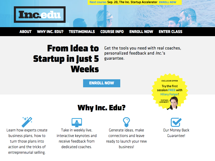 Inc.'s Startup Accelerator