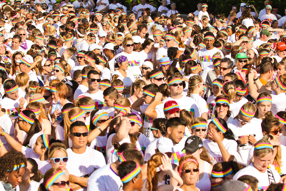 Ypsilanti, MI Color Run Crowd