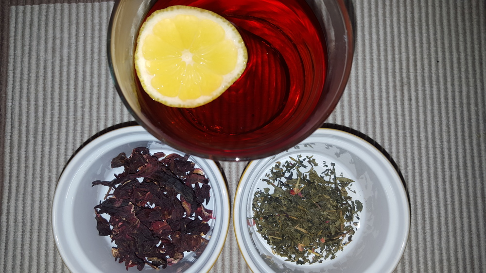 Ginger Hibiscus Iced Tea