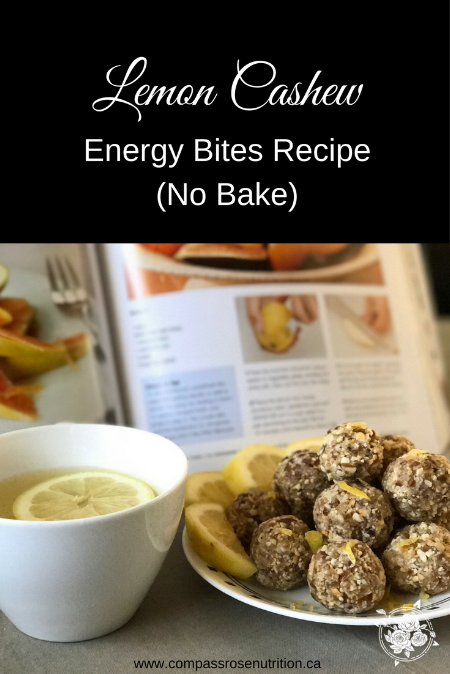 Lemon Cashew Energy Bites Recipe
