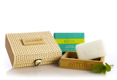 Bath Bar with Bamboo Tray and Case  (item #60200063)  This bamboo set comes with the new doTERRA Bath Bar, with the aroma of Bergamot and Grapefruit.   Wholesale: $13.00 US Retail: $17.33 US