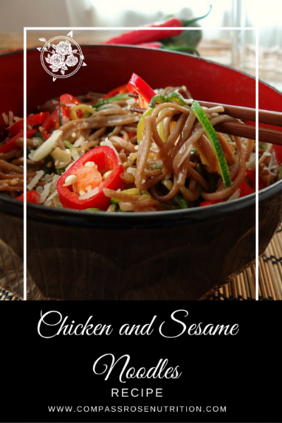 Chicken and sesame noodles recipe