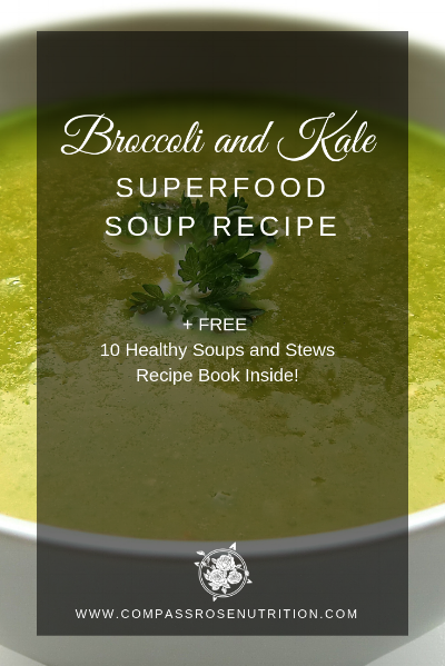 Broccoli and Kale Superfood Soup Recipe