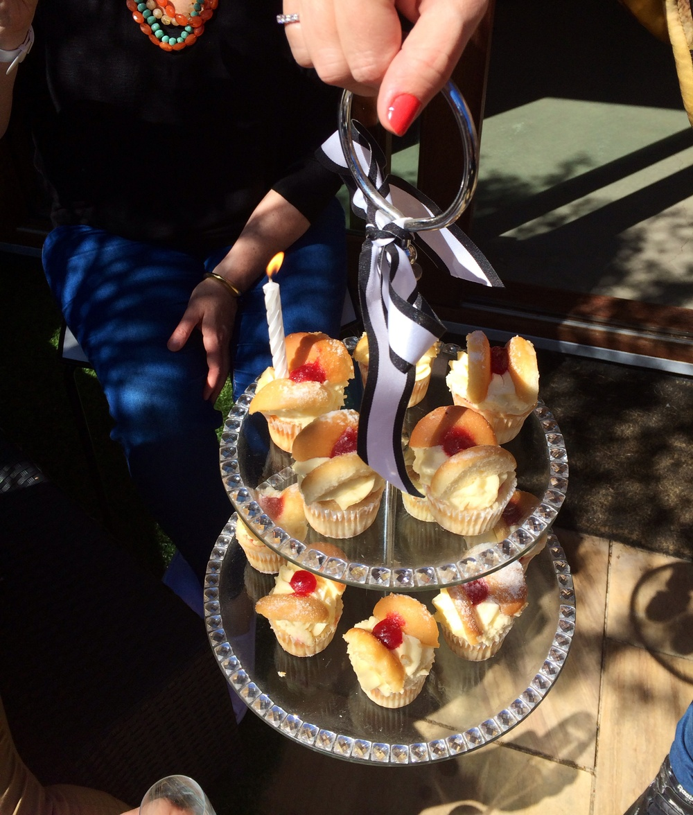 Celebrated Mrs. C's birthday in the sunshine and with sweet treats..
