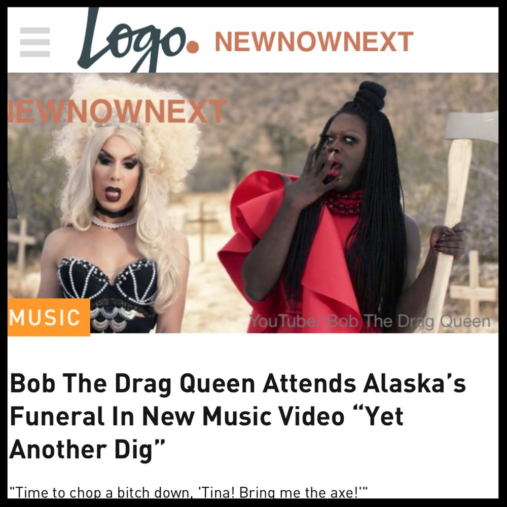 LOGO - BOB THE DRAG QUEEN (YET ANOTHER DIG)