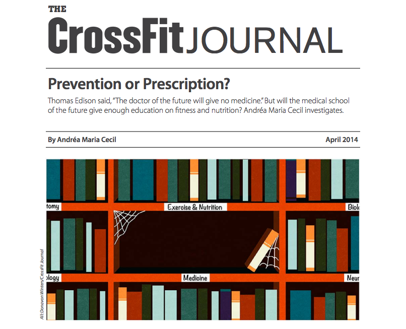 CF Journal article discussing medicine and doctors roles in Prevention or Prescription.
