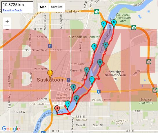 10.8Km Bike trail