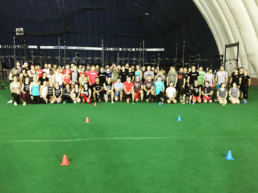 Friday night Rx'd teams and Elite individual competitors.