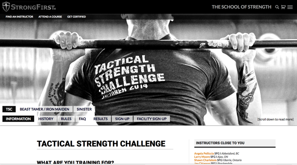 Strong First Tactical Strength Challenge