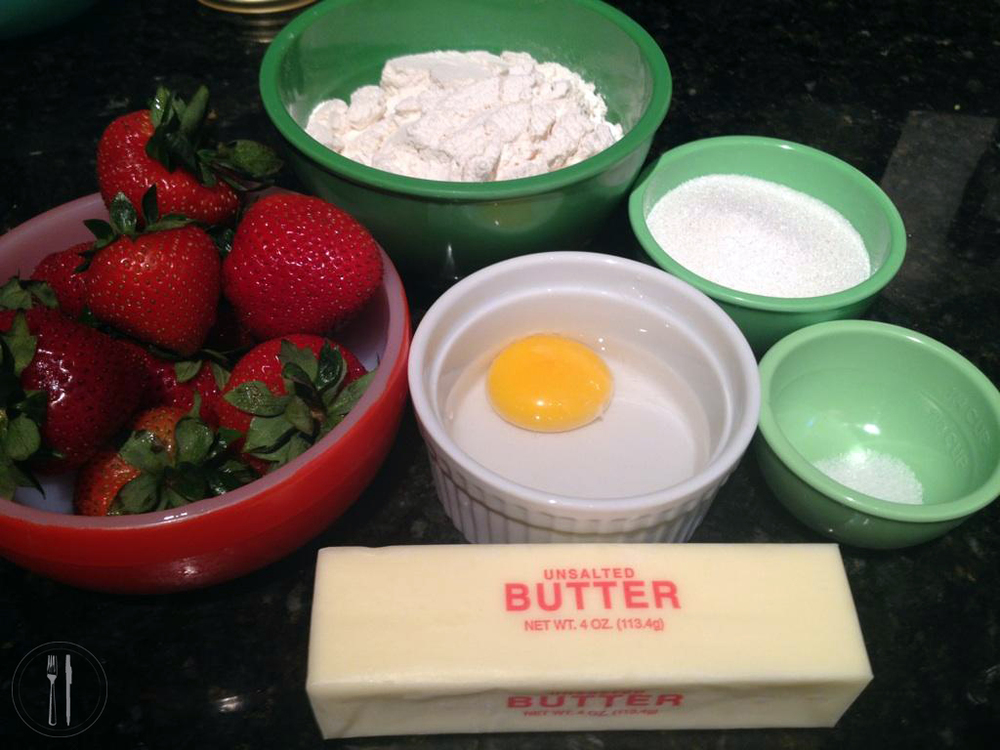 Strawberry Tart Ingredients