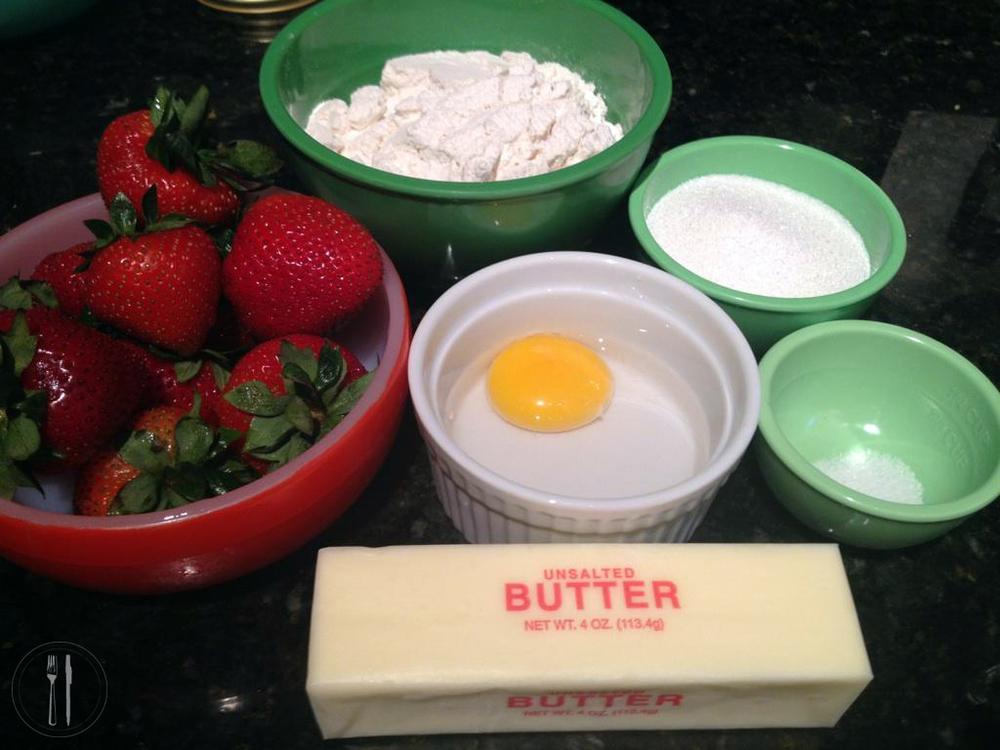 Strawberry Tart Ingredients