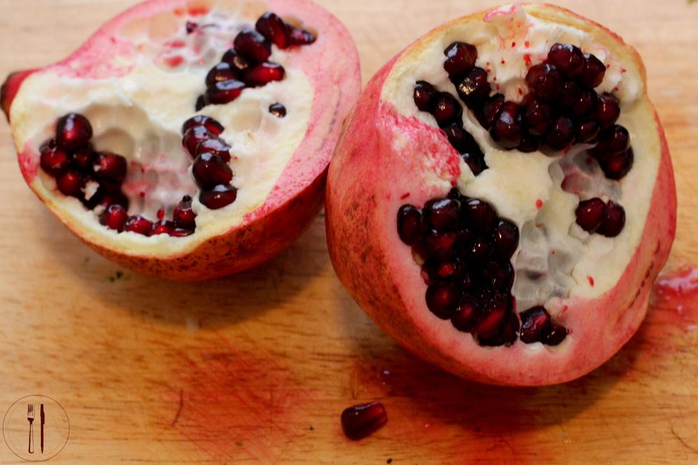 Bleeding pomegranates
