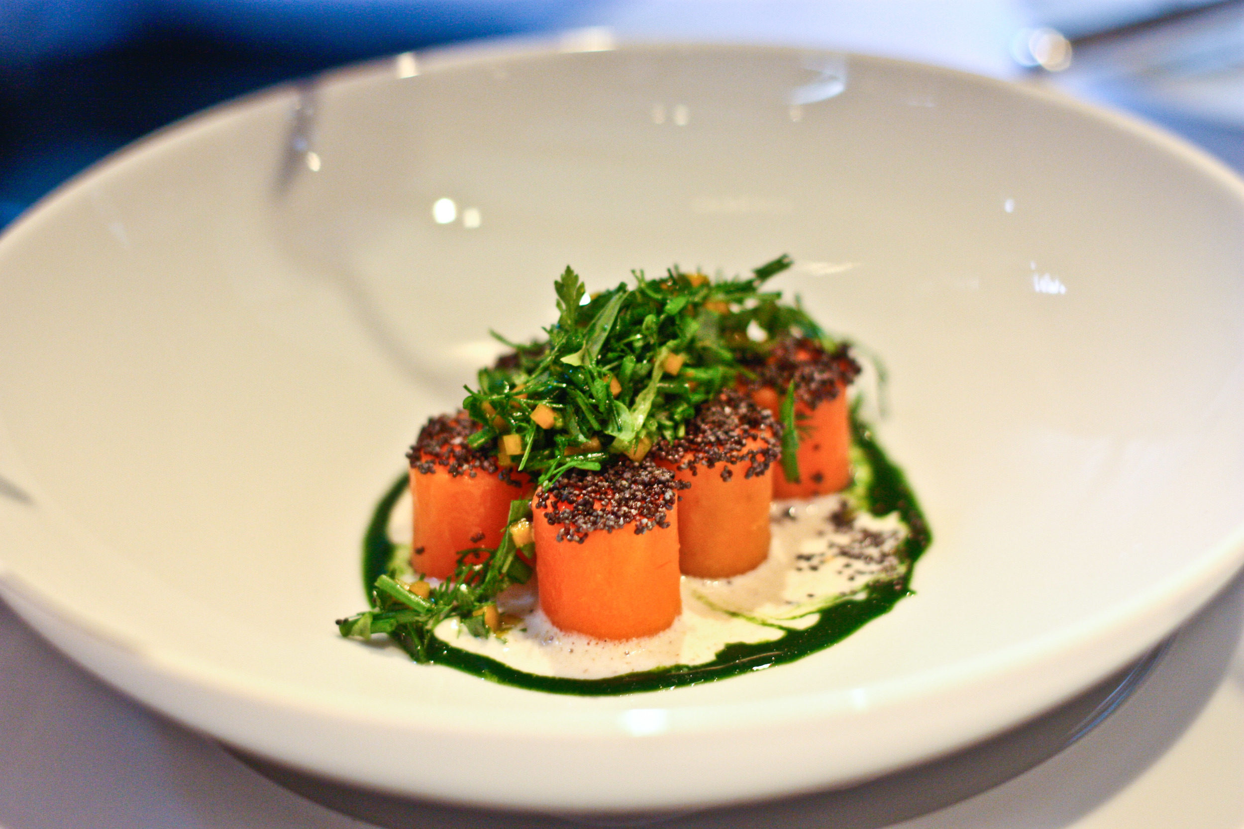 Carrots, poppy and dill at Essigbrätlein