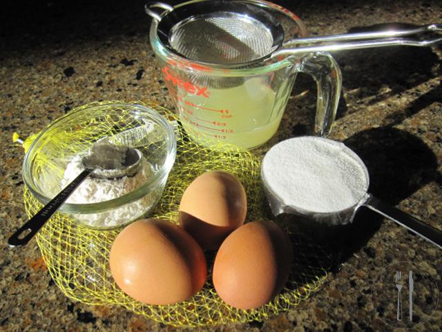 Lemon Souffle ingredients