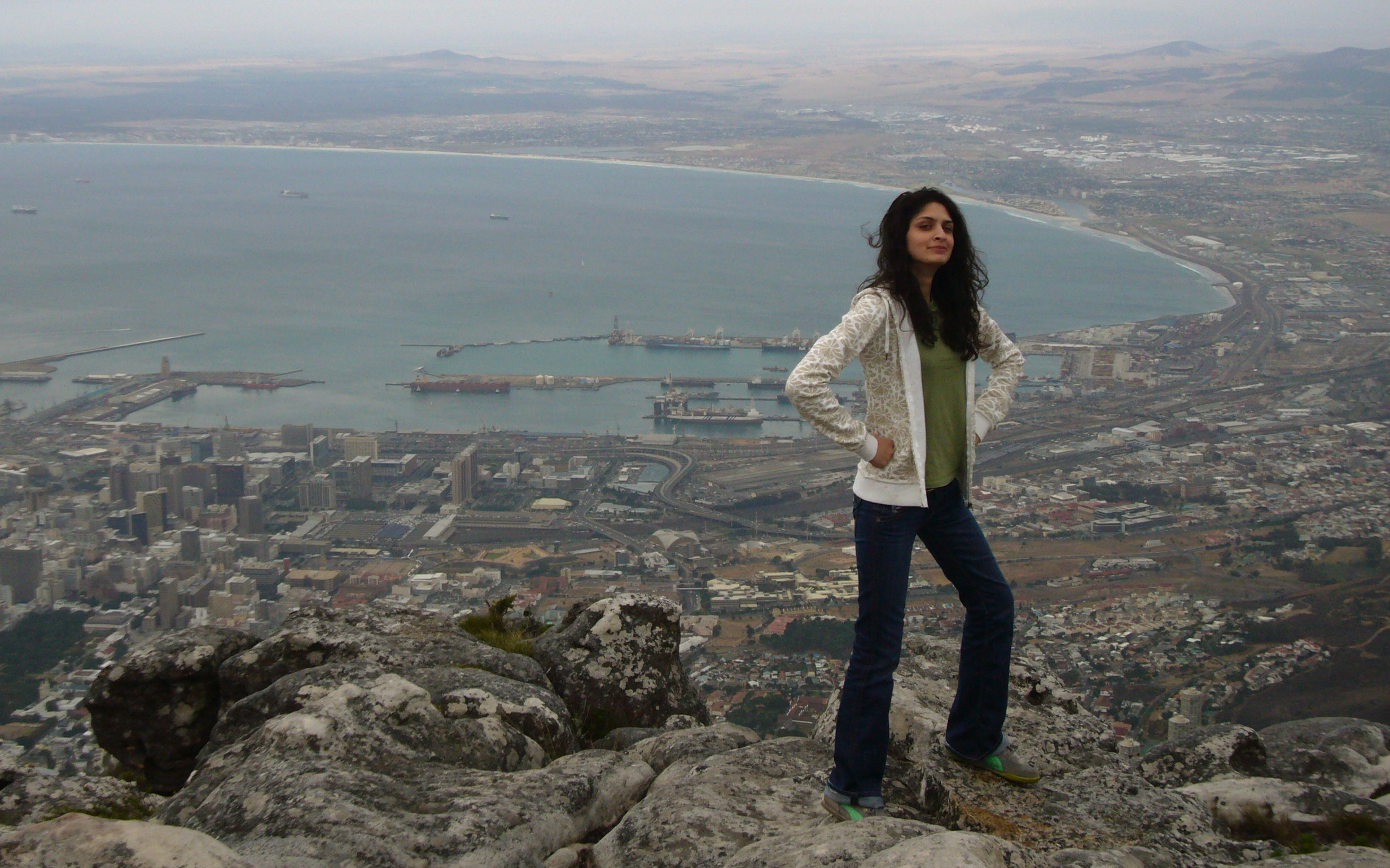 Me conquering Table Mountain