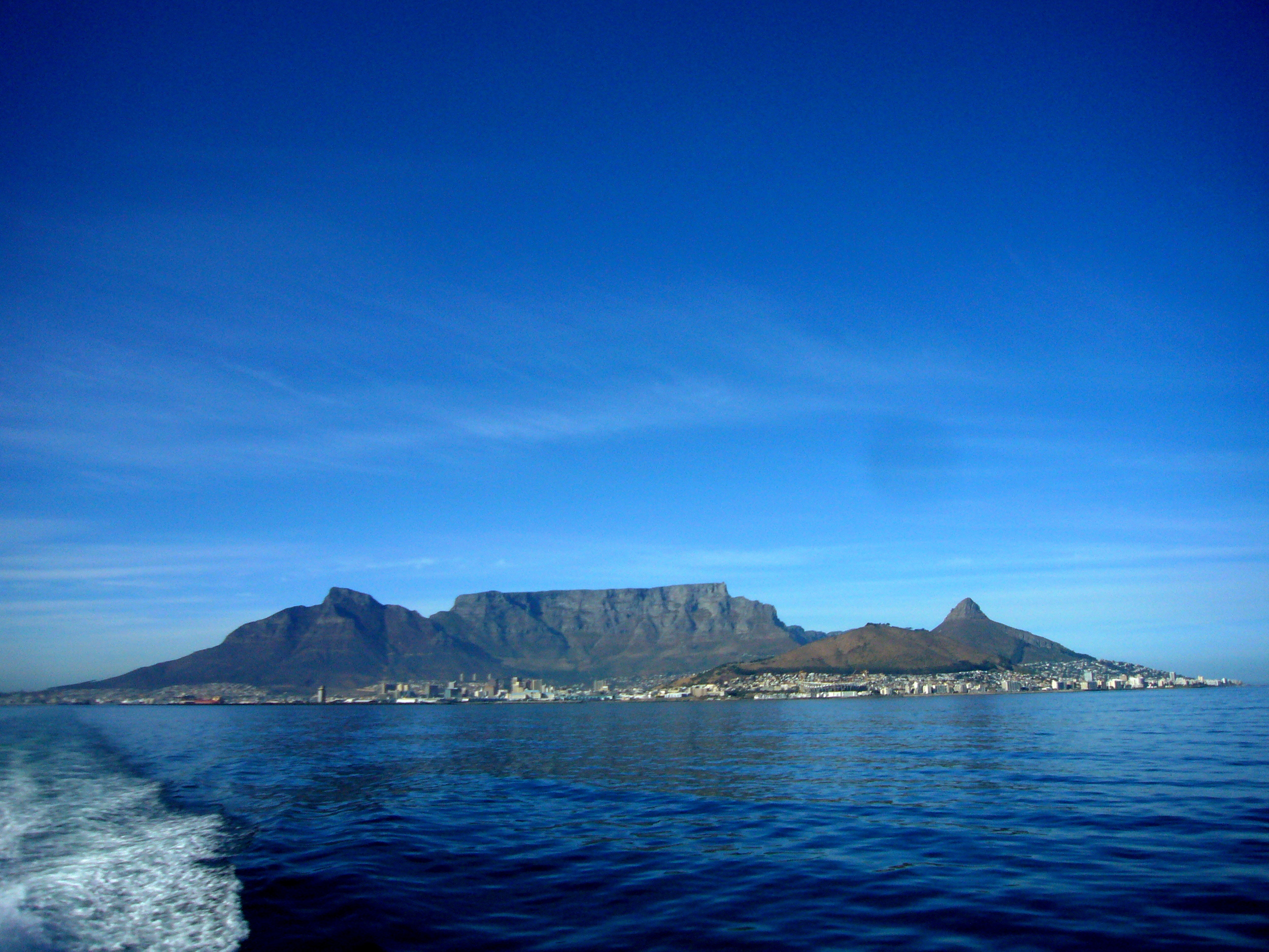 From the boat to Robben Island