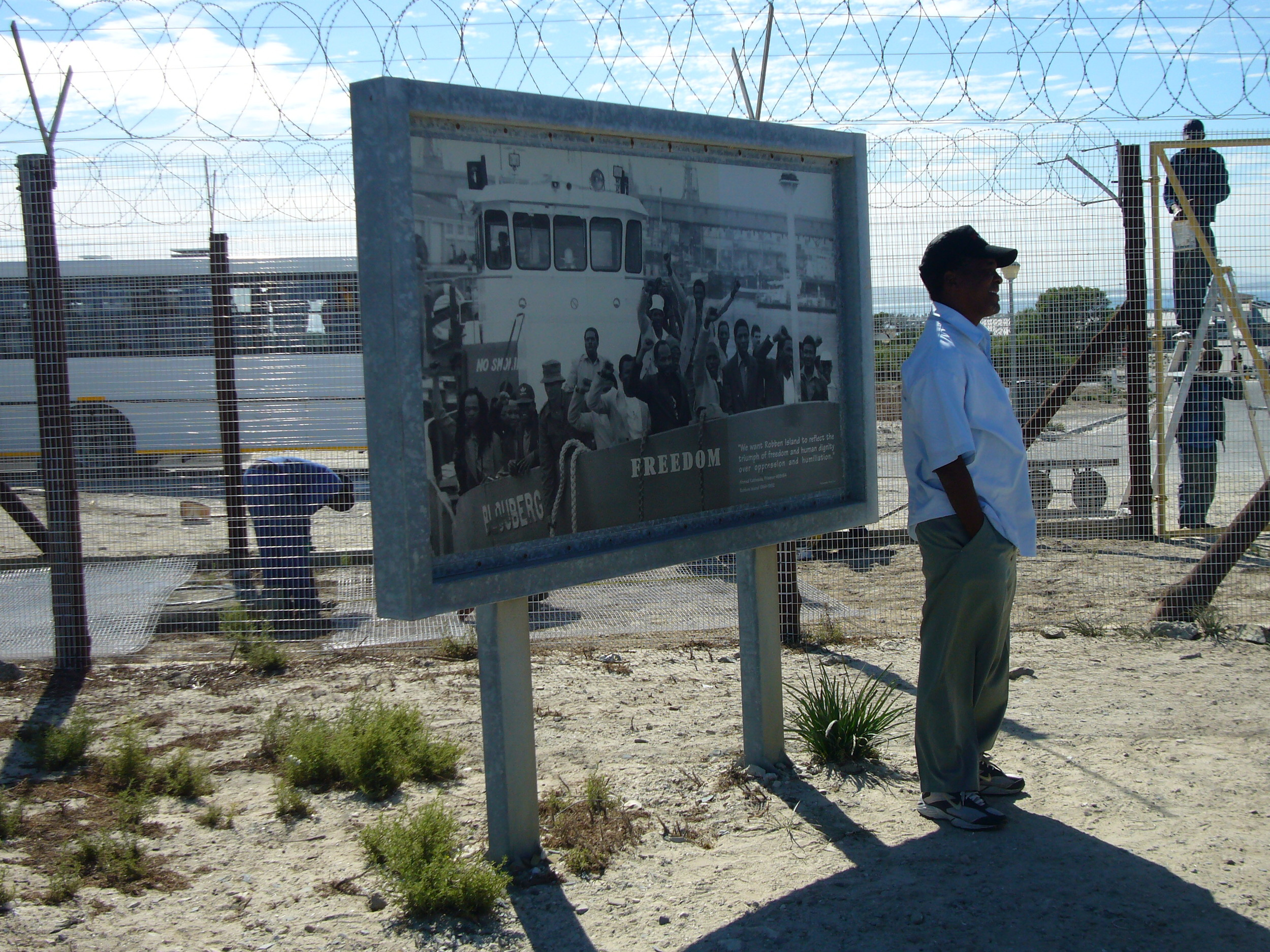 Guide and ex-prisoner at Robben Island