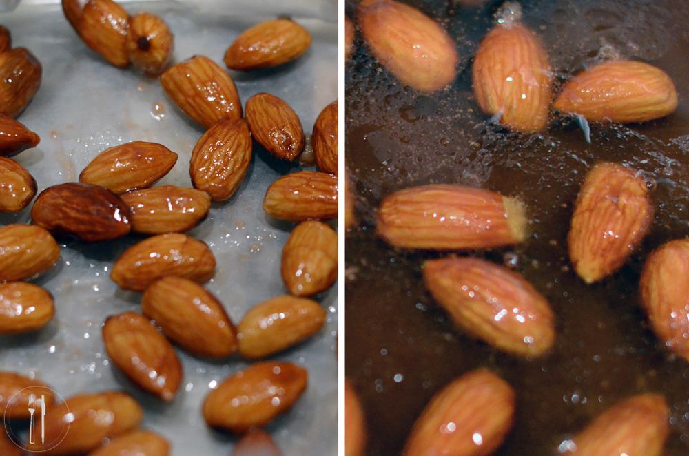 Blood orange caramel almonds