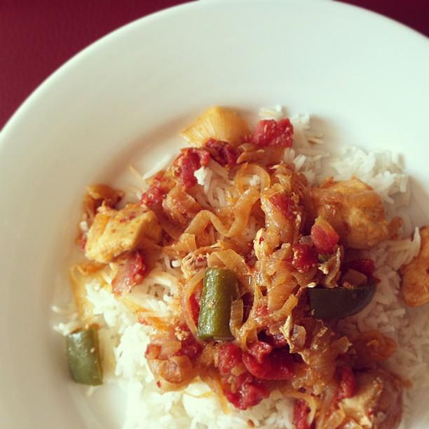 Karahi Chicken with Green Bell Pepper
