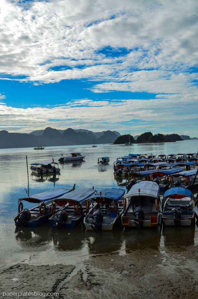 Covered boats for island hopping