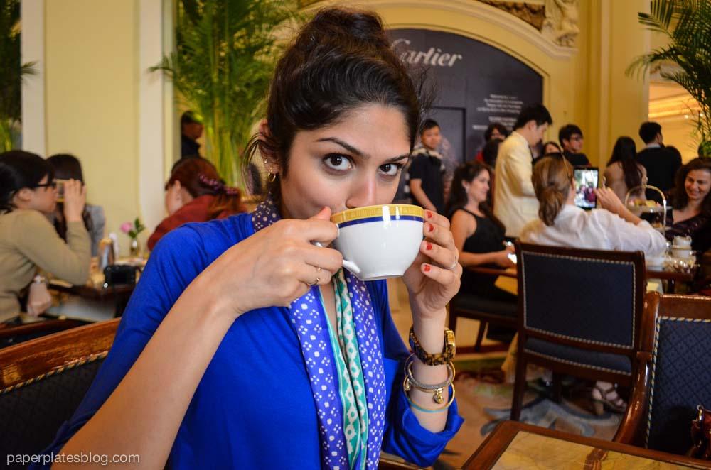 Amina at Tea