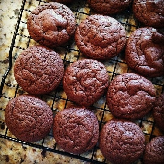 Two-bite Nutella cookies