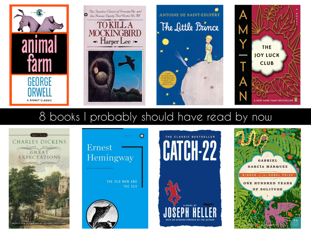 8 books I probably should have read by now