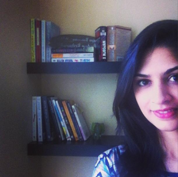 Amina's bookshelfie