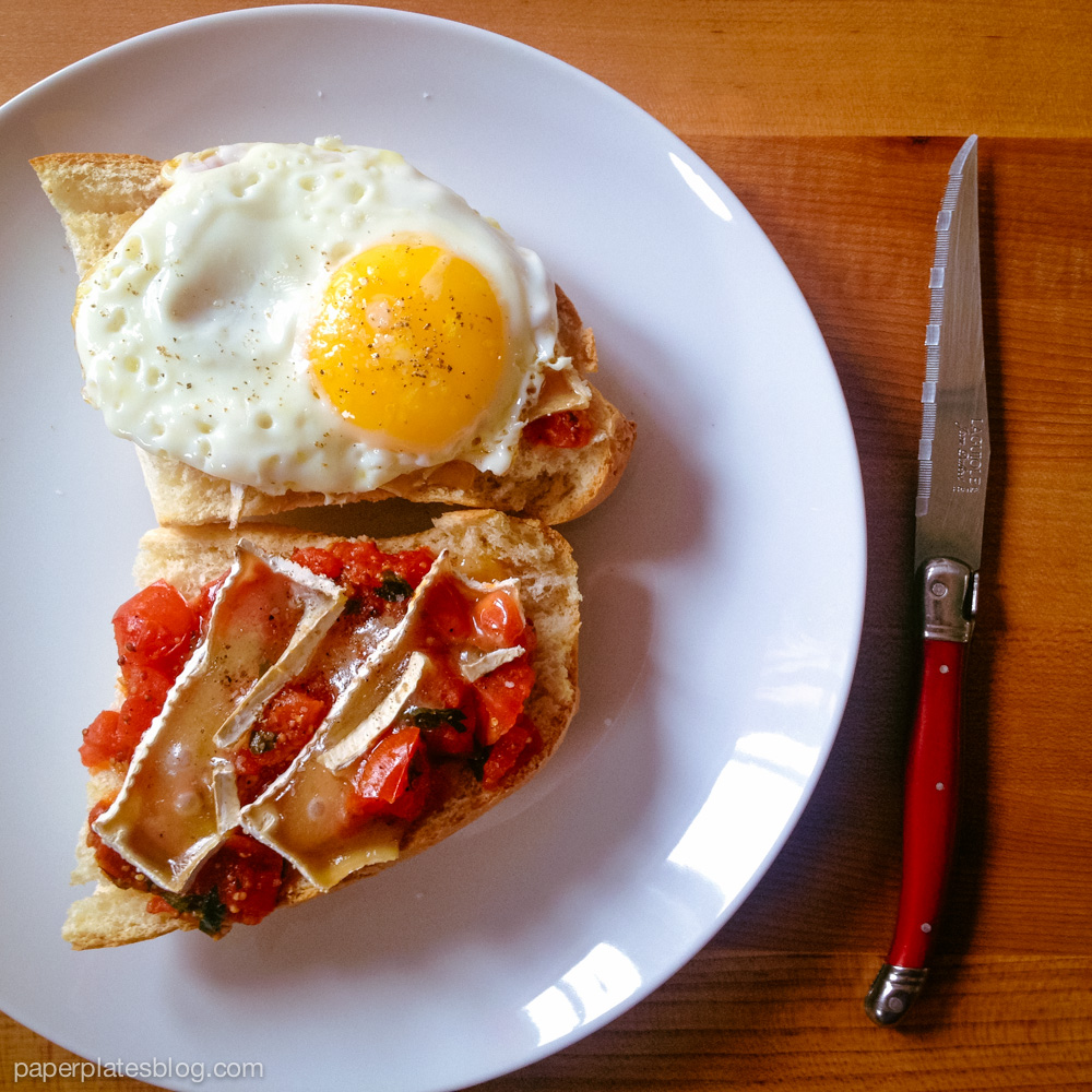 Tomato Breakfast Tartine 1