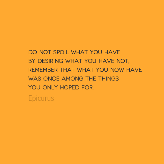 Gratitute quote by Epicurus