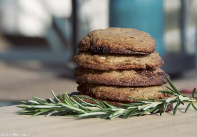 Rosemary Cinnamon Chocolate Chip Cookies