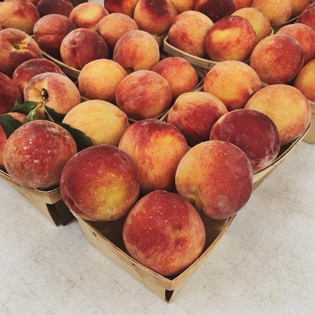 Flamin' Fury peaches from last Saturday's Green City Market.