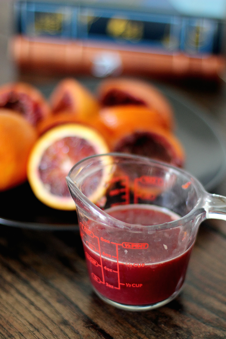 Blood Orange Julius: The perfect Halloween drink. | www.paperplatesblog.com